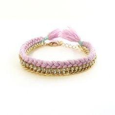 Celebutante Bracelet in Light Purple and Light Blue