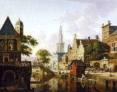 A Dutch town along a canal - Jan Hendrik Verheyen