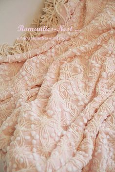 Remember these bedspreads? Pink