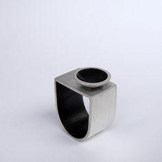 Andra Lupu - Oxidated Silver ring
