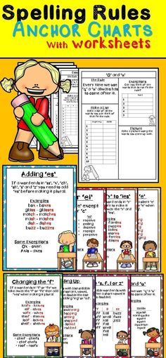 Spelling Rules with Anchor Charts Primary School Curriculum, Elementary Education, Education English, Education College, Elementary Teacher, Childhood Education, College Life, Homeschool
