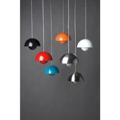 VP1 FlowerPot Pendant Lamp in Black - Pendant Lamps - Lighting - Category