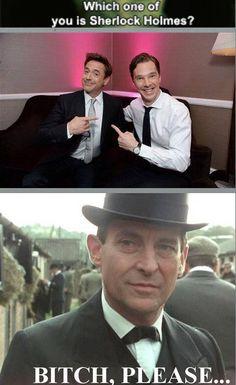 Jeremy Brett - the true Sherlock Holmes....