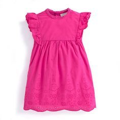 Girls' Peony Broderie Anglaise Dress | JoJo Maman Bebe