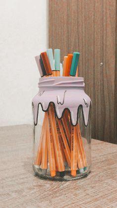 Diy Crafts To Do, Cute Crafts, Paper Crafts, Indie Room Decor, Cute Room Decor, Pot A Crayon, Diy Canvas Art, Summer Crafts, Diy Art