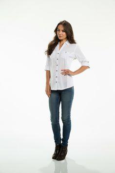 Button Down Shirt - Crisp White – Blu Dulce