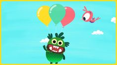 Teach your Monster to Read - First Steps. Motion Graphics, Illustration and Animation design.