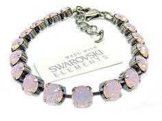 Armband mit Swarovski Elements -Uni- Rose Water Opal Günstig