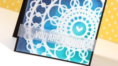 Ink Blending Over Intricate Stencil -- Make a Card Monday #247