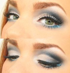 Everywhere That I go I can see you -Linda Hallberg 03/19/12 (smokey eye with a pop of blue)