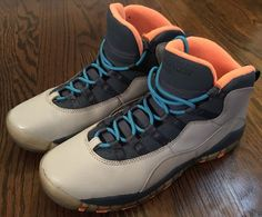 save off 2856d efed1 2013 Nike Air Jordan X 10 Retro Size 6.5Y - Bobcats Grey Powder Blue 310806