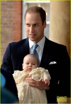 Kate Middleton and Prince William's son Prince George of Cambridge gets christened at the Chapel Royal in St. James Palace on October 23, 2013