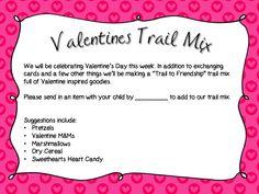 Classroom Freebies Too: Valentine's Trail Mix