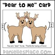 """You're dear to me"" Activity Sheet for Sunday School from www.daniellesplace.com for Children's Sunday School"