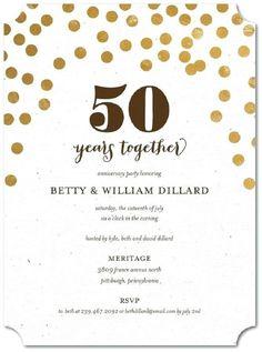 50th Wedding Anniversary Invitations Free Templates