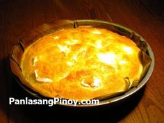 Bibingka Recipe - the best I've found! Just gotta lay back on the sugar a bit.