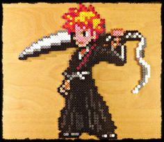 Ichigo Kurosaki - Bleach Hama perler sprite by M4ykeul on deviantART