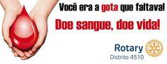 """É só ir até o hemocentro do Hospital Regional, em Presidente Prudente localizado no Rua José Bongiovani nº1297 das 7:00 às 17:00 hs, todos os dias e doar em nome de """"ROTARY"""". #Rotary #D4510 #Doesangue #Doevida"""