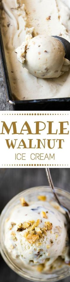 Maple Walnut Ice Cream has to be one of the great flavors of all time. This New… by angelina