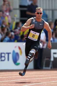 Oscar Pistorius - Middle Distance sprinter--FIRST amputee ever in an OLYMPIC TRACK AND FIELD EVENT