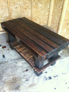 TV stand made from old pallets #Furniture, #Pallets, #TVStand