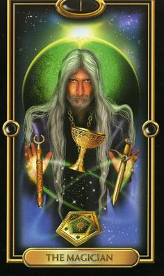 Hé lộ Lá The Magician - Gilded Tarot bài tarot Xem thêm tại http://tarot.vn/la-the-magician-gilded-tarot/