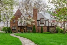 1929 Tudor For Sale In Greenville Ohio — Captivating Houses French Doors Patio, Patio Doors, French Patio, Greenville Ohio, Milwaukee Wisconsin, Jacksonville Florida, English Tudor Homes, Arch Doorway, Leaded Glass Windows