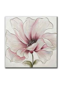 Lotus Flowers-Original Watercolor Painting-Pink Lotus With Blue and Green Background-Flower Wall Art - Texture Painting On Canvas, Fabric Painting, Watercolor Paintings, Canvas Art, Big Canvas, Art Paintings, Flower Canvas, Flower Art, Flower Painting Canvas