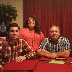 My  #1 son Marty on right with Tina and their #2 son Taylor.