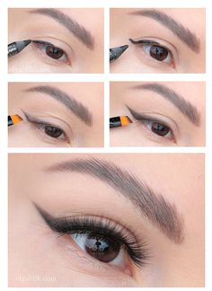 How to draw arrows with shadows photo Как рисовать стрелки тенями фото How to draw arrows with photo shadows - Smudged Eyeliner, No Eyeliner Makeup, Makeup Art, Eyeliner Pencil, Makeup Ideas, Pencil Eyeliner Tutorial, Make Up Tutorial Contouring, Make Up Concealer, Rockabilly Makeup