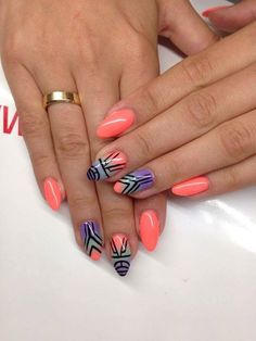 by Ania Leśniewska Double Tap if you like #mani #nailart #nails #aztec Find more Inspiration at www.indigo-nails.com