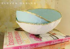 DIY Paper Mâché nesting bowls tutorial