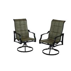 Hampton Bay Statesville Padded Sling Patio Lounge Swivel Chairs - The Home Depot