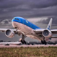 In a plane, taking off... There's no other place that even comes close. (picture by KLM)