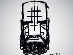 Untitled [beard] by Meta Sapient #illustration #dibujo #ilustración
