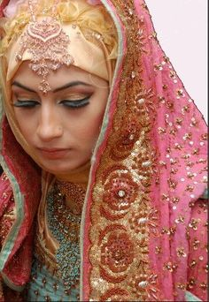 Latest Bridal Hijab Dresses Designs Collection 2016-2017 (21)