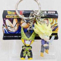 Dragon Ball Z Cell + Trunks Twin Figure Key Chain JAPAN ANIME MANGA