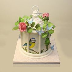 Birdcage  Cake by TheCakeArtist - We saw this and had to share! #AdorableCakeDecorating #Amazing!