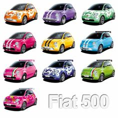 The Fiat 500 - totally customisable and totally cute