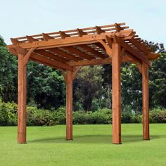 The pergola kits are the easiest and quickest way to build a garden pergola. There are lots of do it yourself pergola kits available to you so that anyone could easily put them together to construct a new structure at their backyard. Gazebo, Pergola Canopy, Cheap Pergola, Wooden Pergola, Backyard Pergola, Pergola Shade, Backyard Landscaping, Backyard Ideas, Rustic Pergola