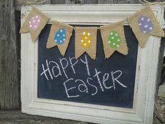 Easter Egg banner, Wreath add on, Mini banner, wreath embellishment, Free shipping