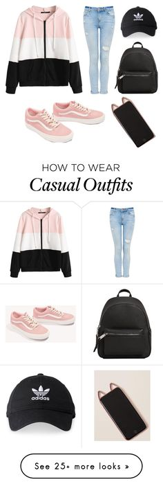 """Pastel Casual"" by kawaiimeme on Polyvore featuring Vans, MANGO and adidas"