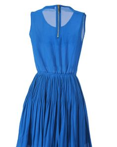 osell wholesale dropship Fashion Chiffon Ruffle Pure Color Women Dresses $12.53