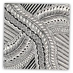 Pretty doodle -- weavven stitches.