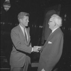 Masonic Handshake:  President John Fitzgerald Kennedy and David O. Mckay, (former President of the  Mormon Church.)
