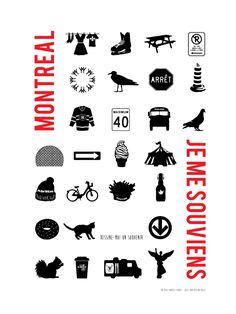 Affiche Illustration MONTRÉAL Quebec Montreal, Poutine, Poster Ads, Post Card, Logo Ideas, Vintage Images, Design Elements, Invitation, Doodles