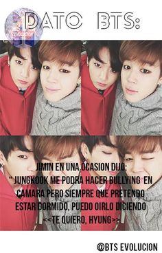 """Translated: Jimin on one occasion said, """"Jungkook would bully on camera but whenever I pretend to be asleep, I can hear him say I love you, Hyung"""". (Hyung meaning: Brother) Atrévete a lucir un #cabello diferente #Cabello #Hairstyle #Belayage"""