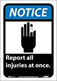 National Marker Corp. NGA11P Notice, Report All Injuries At Once (W/Graphic) Sign, 10 Inch X 7 Inch, PS Vinyl Ensure all areas of your workplace are clearly marked for access. Give clear direction to https://thehomeofficesupplies.com/national-marker-corp-nga11p-notice-report-all-injuries-at-once-wgraphic-sign-10-inch-x-7-inch-ps-vinyl/