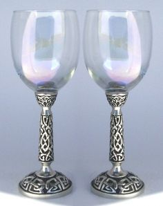 Celtic Wedding Toasting Glasses Set with sparkling apple juice of course!!!