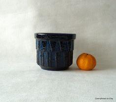 "Ceramano planter 4015, "" Kosmos Blau ""Mid Century Modern ceramic planter. WGP. by Cherryforest on Etsy"